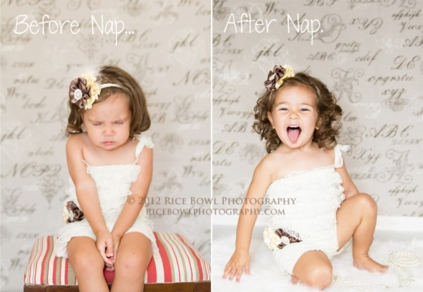 before n after nap
