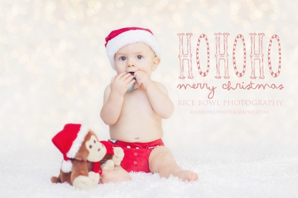 Cute Christmas Baby Photography