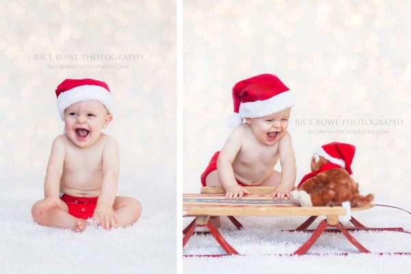 6 month old holiday baby photo